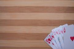 Внезапные королевские карточки Стоковая Фотография RF