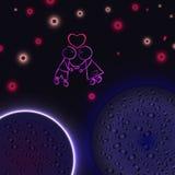 Внеземная влюбленность, чудесные чувства влюбленности Стоковая Фотография RF