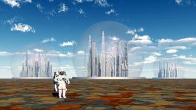 Внеземная жизнь и астронавт Стоковые Фотографии RF