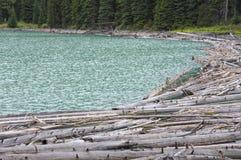 Внесите варенье в журнал через конец озера Duffey, ДО РОЖДЕСТВА ХРИСТОВА Стоковые Фотографии RF