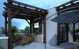 Внешнее здание, перевод дизайна, архитектура Стоковое Изображение RF