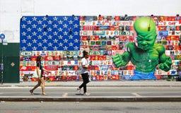 Внешнее искусство в районе Nolita, Нью-Йорке Стоковые Фотографии RF