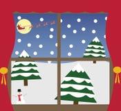 Внешнее окно рождества Стоковые Изображения RF