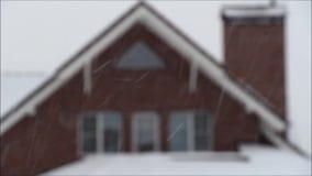 внешнее окно снежка сток-видео