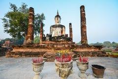 Внешнее старое изображение Будды Стоковые Фотографии RF