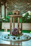 Внешнее украшение тени фонарика или лампы - осень стоковая фотография rf