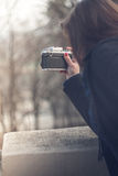 Внешнее фото девушки стоковые изображения rf