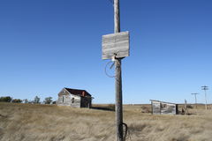 Внешнее фото покинутой земли города городка Стоковое Изображение