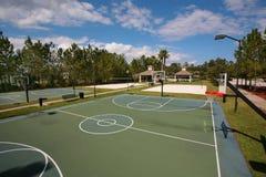 Внешние баскетбольные площадки Стоковое Фото