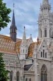 Внешние взгляды церков Matthias стоковое изображение