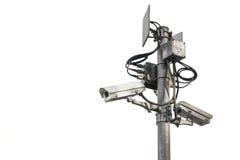 Внешние камеры слежения на поляке Стоковые Фото
