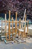 Внешние мольберты, художественное училище стоковое изображение rf