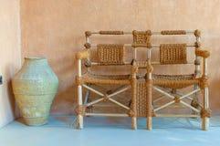 Внешние ротанговые кресла мебели Стоковая Фотография RF