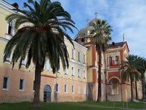 Внешние стены нового монастыря Athos Стоковое Фото
