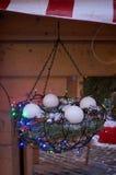 Внешние украшения рождества дома снаружи Стоковые Изображения RF