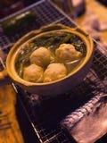 Внешние шар и рыбы fishball барбекю Стоковая Фотография RF