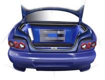 Внешний автомобиль спорт хобота План акустической установки иллюстрация Стоковое фото RF