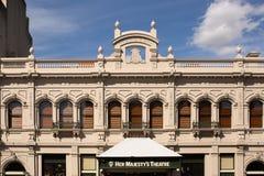 Внешний взгляд исторического ее театр Majestys Стоковое Изображение RF