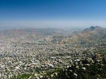Внешний взгляд к городу Taiz от крепости al-Cahira на Taiz, Йемен стоковые изображения