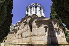 Внешний взгляд крупного плана Nea Moni, нового монастыря Стоковое фото RF