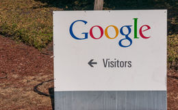 Внешний взгляд офиса Google Стоковое Фото