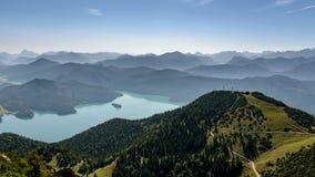 Внешний вид на Walchensee Стоковое фото RF