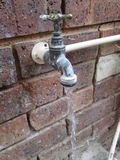 Внешний водопроводный кран Kambas Стоковое Фото