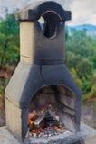 Внешний камин Стоковые Фотографии RF
