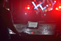 Внешний концерт с dj Стоковое Изображение RF