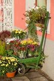 Внешний магазин флориста Стоковые Фотографии RF