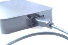 Внешний портативный жёсткий диск стоковая фотография rf