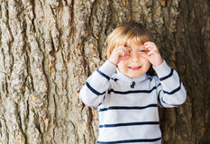Внешний портрет милого мальчика Стоковая Фотография