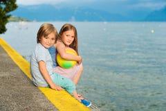 Внешний портрет милых детей Стоковое Изображение