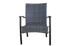 Внешний поли ротанг обедая стул изолированный на белой предпосылке стоковое изображение rf