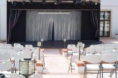 Внешний пустой театр Стоковая Фотография
