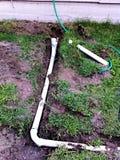 Внешний ремонт водоотводной трубы сточной трубы Стоковое фото RF