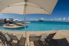Внешний ресторан в Bimini Багамских островах Стоковое Фото