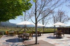 Внешний ресторан около виноградника стоковое изображение