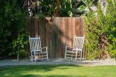 Внешний сад роскошного дома Стоковая Фотография RF
