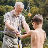 Внешний урок archery Стоковая Фотография
