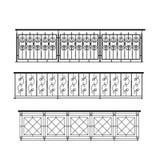 внешний railing парапета металла Стоковые Изображения