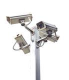 4 внешних камеры слежения. Стоковые Фото