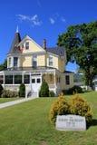 Внешняя архитектура в историческом доме Гибсона Woodbury, северном Conway, Нью-Гэмпшир, 2016 Стоковое фото RF