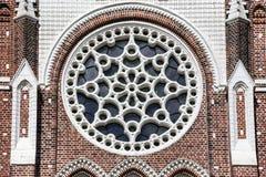 Внешняя архитектура собора St Marys в Янгоне Мьянме Азии Стоковая Фотография RF