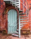 Внешняя винтовая лестница Стоковые Фото