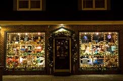 внешняя витрина магазина рождества Стоковая Фотография