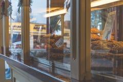 Внешняя витрина магазина с печеньями Стоковое Изображение