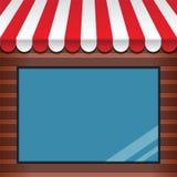 Внешняя витрина магазина с тентом Стоковые Изображения