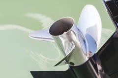 Внешняя деталь пропеллера двигателя Стоковое фото RF