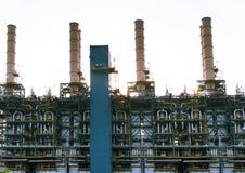 Внешняя линия трубки и трубы печной трубы тяжелой индустрии строя p Стоковые Изображения